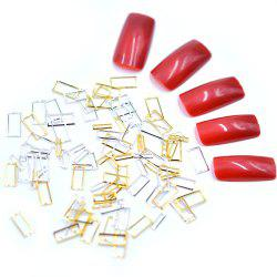 1 Pack Gold Silver Rectangle Glitter Metal Frame Mix Sizes Nail Decors BBM125 -