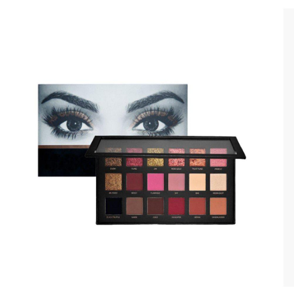 Online 18 Colors Eyeshadow Palette Versatile Colors High Pigmented Eye Makeup