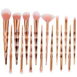 15 Diamond Makeup Brushes Set Makeup Tools -