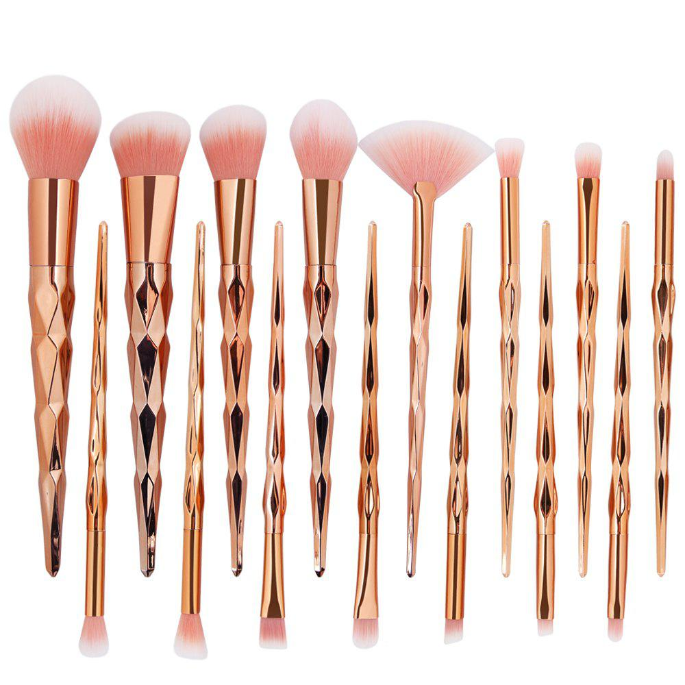 Fancy 15 Diamond Makeup Brushes Set Makeup Tools