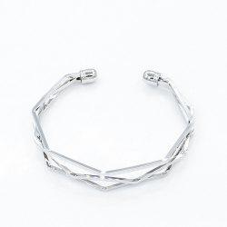 Fashion Pop Bracelet Five-Layer Diamond Angle Polished Opening Couple -
