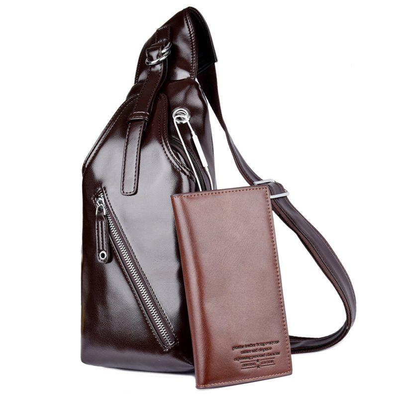 New Recreational Men s Brassiere Single Shoulder Bag Sports Backpack with a  Wallet 0b7d701a35731