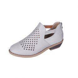 Back Zipper Breathable Pointed Casual Womens Shoes -