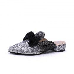 Comfortable Pointed Butterfly Knot Flat Soled Slippers -