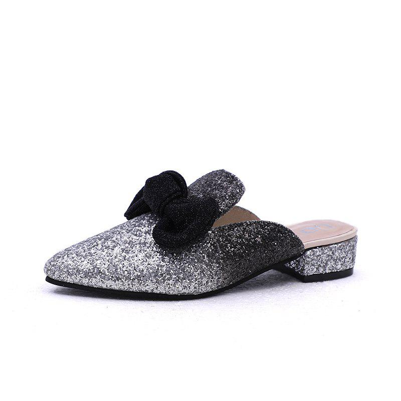 Buy Comfortable Pointed Butterfly Knot Flat Soled Slippers