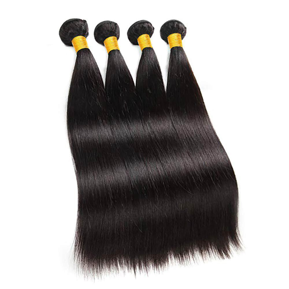 Chic Brazilian Straight Hair 4 Bundles Deals Human Hair Weaving Remy Human Hair Wefts