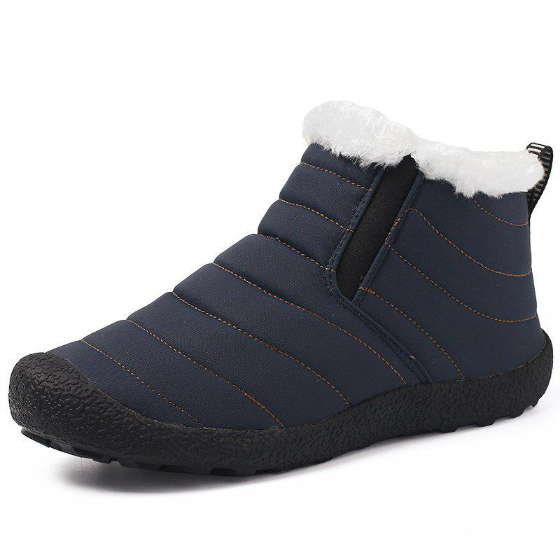 Chic Men High Top Warm Boots Winter Winter Fur Shoes