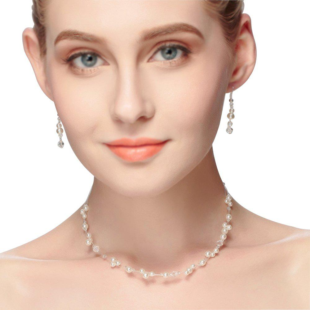 New New Fashion Simple Pearl Necklace Set