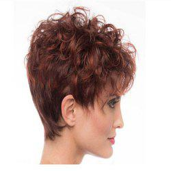 Wine Red Gradient Small Roll Shape Hot Wig Set -