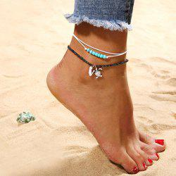 Fashion Turtle Beads Anklets Set Beach Chains -