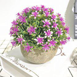 Semi-Circle Flowers and Plants Living Room Bedroom Simulated Colorful Potted Pla -
