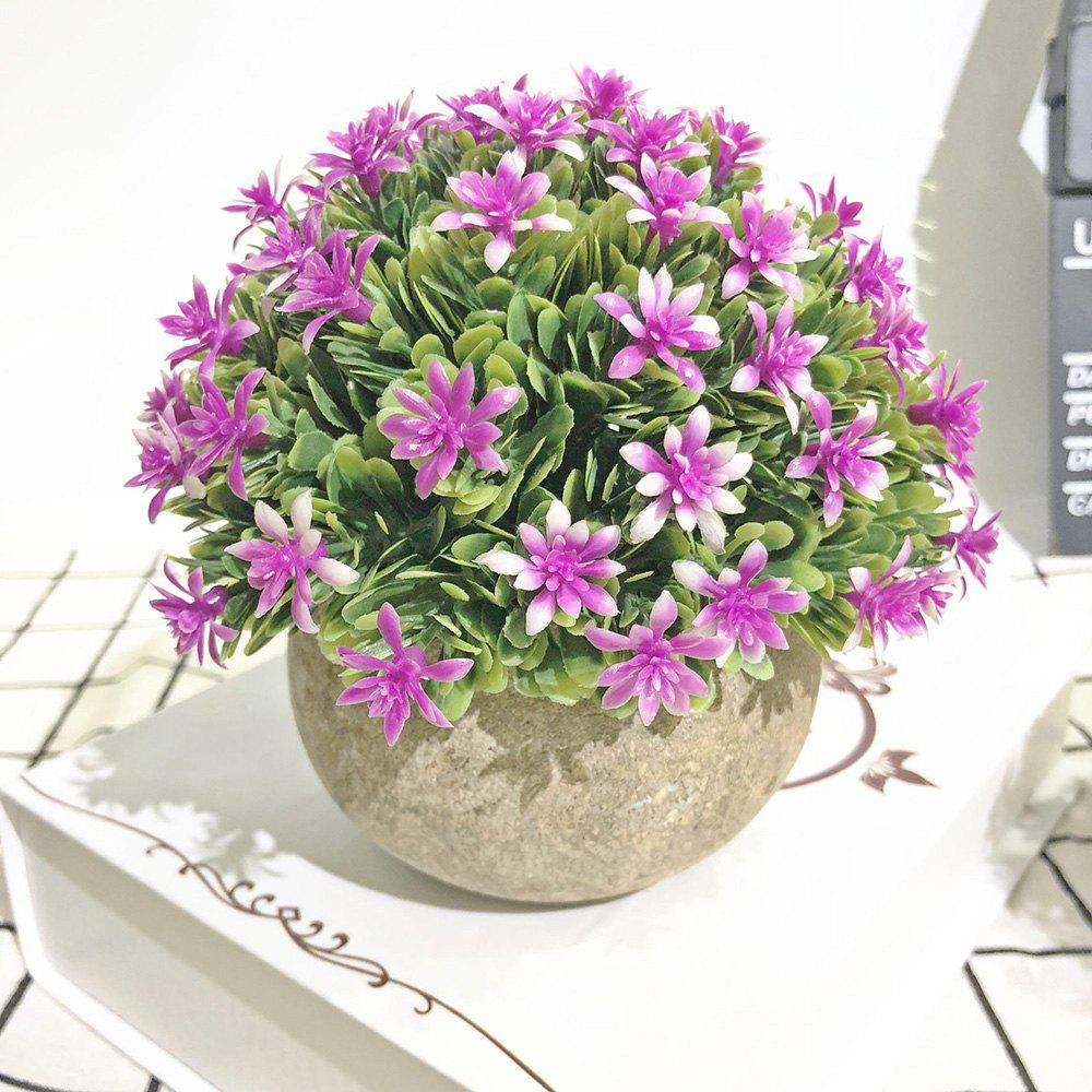 Store Semi-Circle Flowers and Plants Living Room Bedroom Simulated Colorful Potted Pla