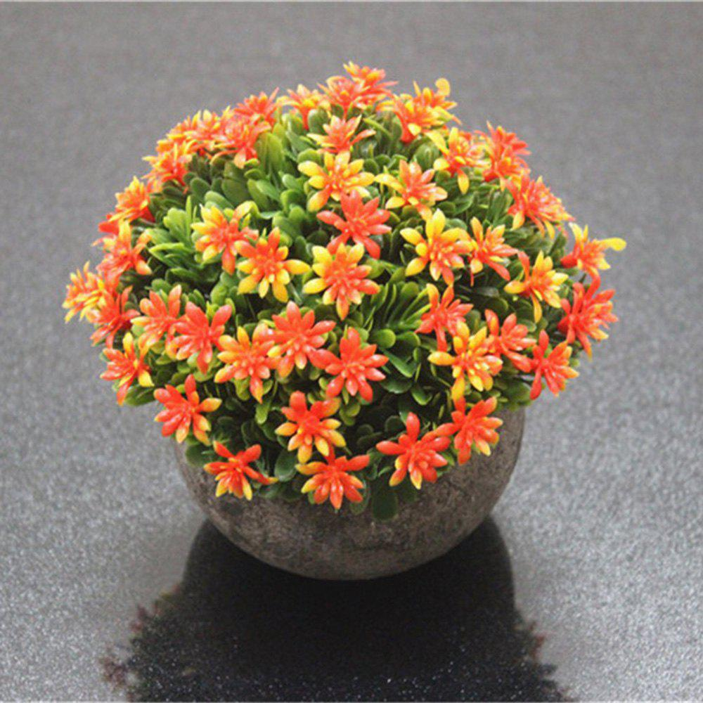Buy Semi-Circle Flowers and Plants Living Room Bedroom Simulated Colorful Potted Pla
