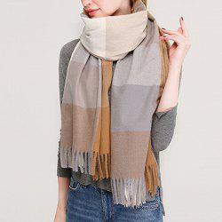 New Lady Fashion Plaid Autumn Winter Warm Shawl Scarf -
