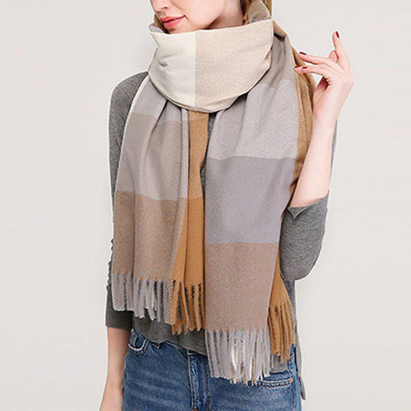 Online New Lady Fashion Plaid Autumn Winter Warm Shawl Scarf