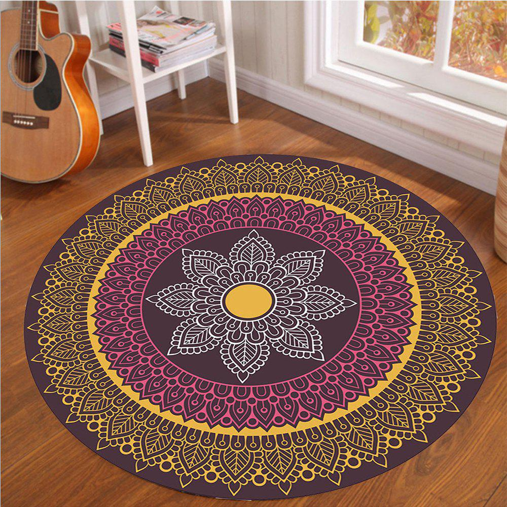 Crystal SuperSoft Living Room Tapis circulaire Couverture d'ordinateur Spread Roo