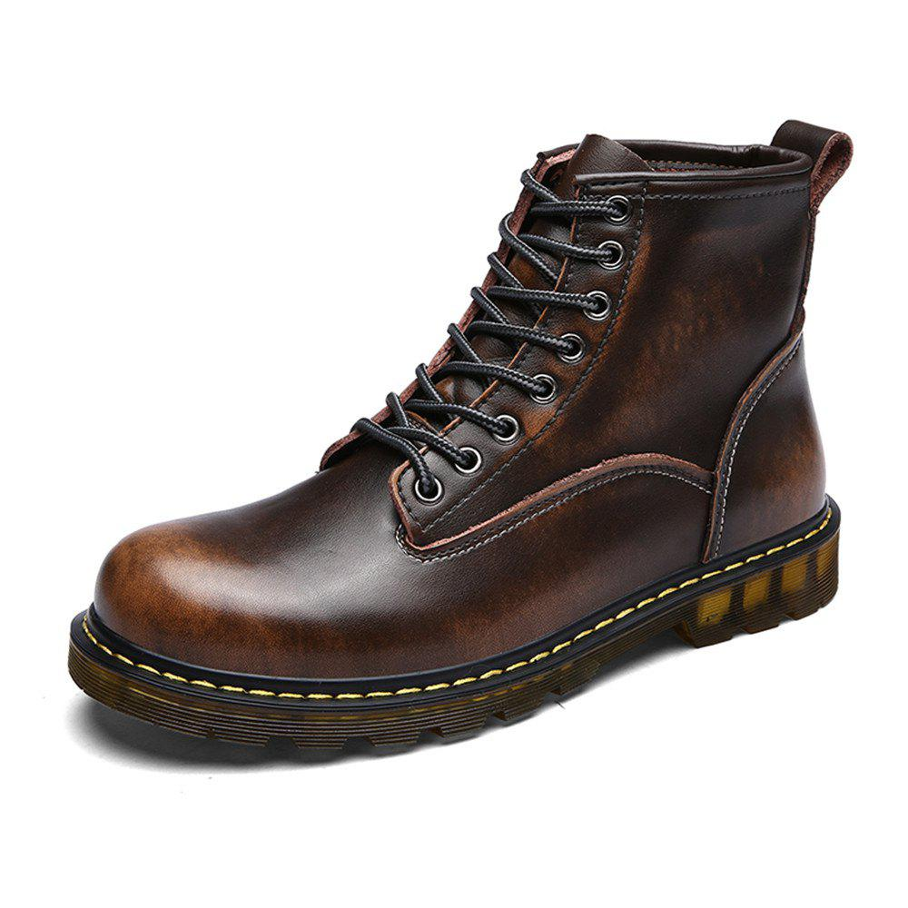 Fashion Men'S Fashionable and Comfortable Cowhide Boots