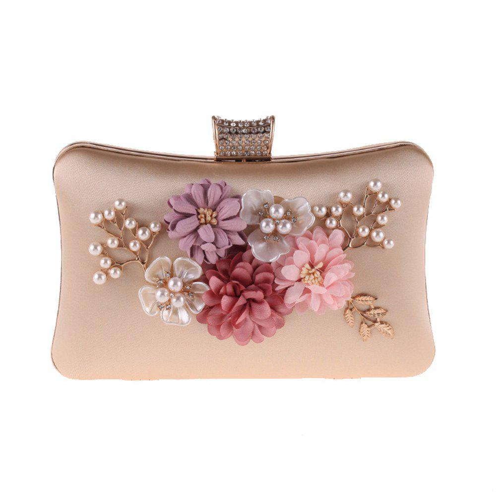 Online The Lady S Hand Bag Flower Polyester Evening Bags Pearl Small Package