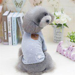 Pet Clothing Cotton Fashion Handsome Dog Clothes -