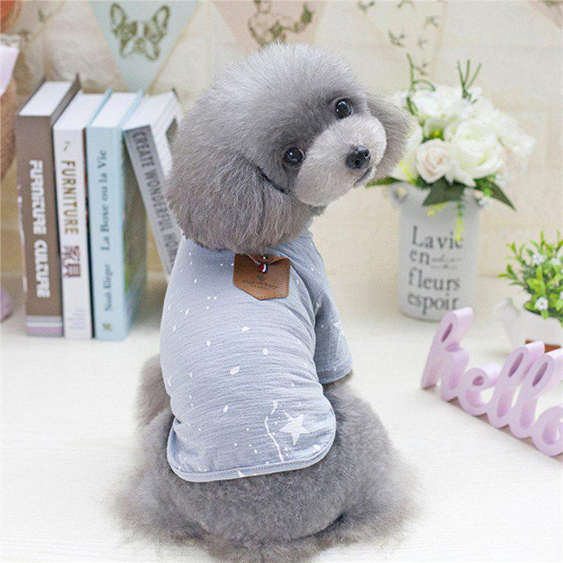 Discount Pet Clothing Cotton Fashion Handsome Dog Clothes