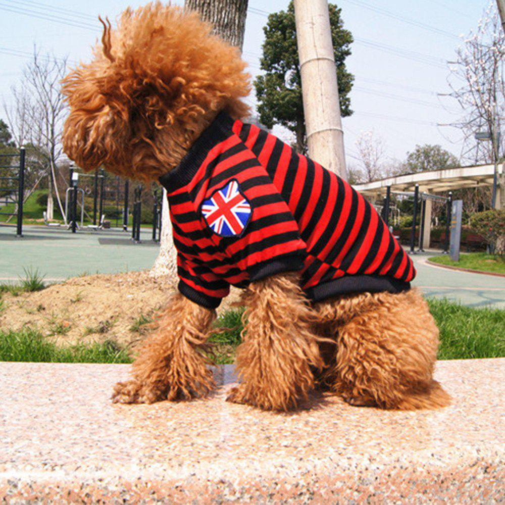 Hot Striped Teddy Dog Pet Clothes