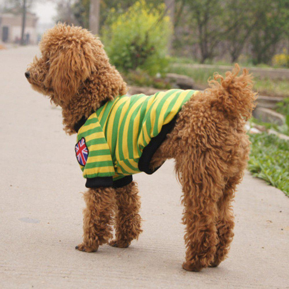 New Striped Teddy Dog Pet Clothes
