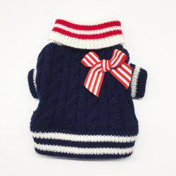 Pet Autumn and Winter Cat and Dog Navy Fur Clothing -