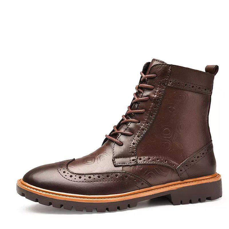 Shops COSIDRAM Autumn and Winter Fashion High-Top Boots for Men