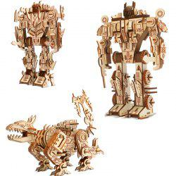 3D Puzzle Walking Wooden Robot Toy for Kids -