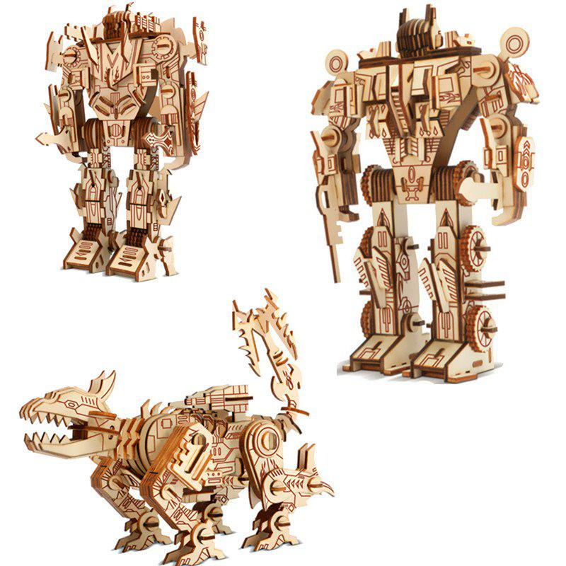 Best 3D Puzzle Walking Wooden Robot Toy for Kids