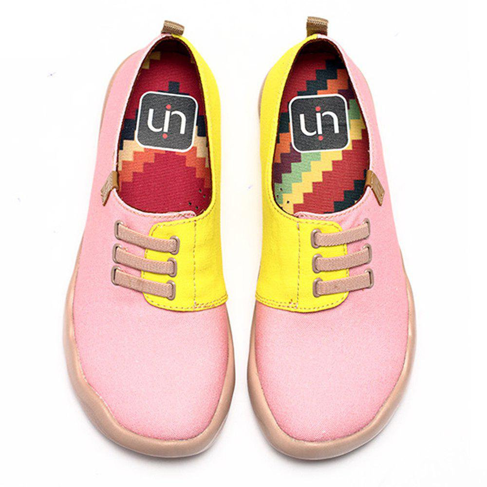 Shops UIN Women's Magenta Painted Canvas Slip-On Fashion Travel Shoes Art Casual Shoes