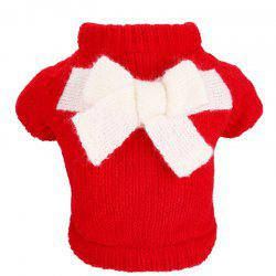 Pet Fall Winter Teddy Dog Clothes Bow Sweater -