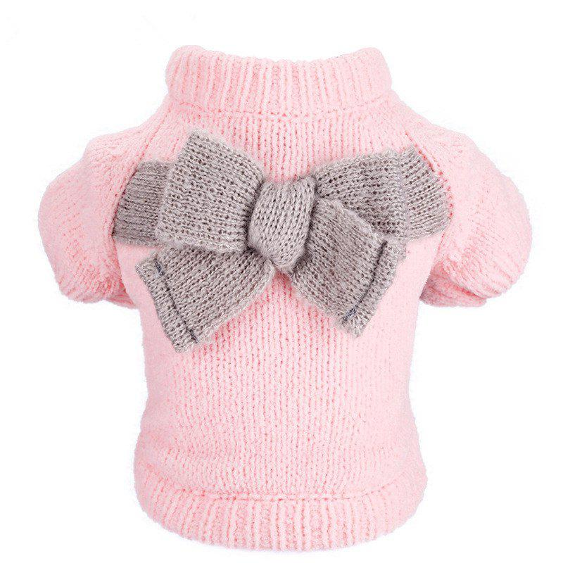 Sale Pet Fall Winter Teddy Dog Clothes Bow Sweater
