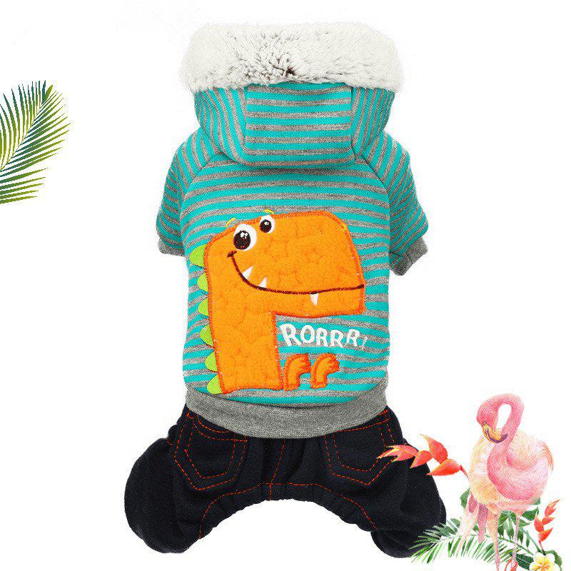 Best Pet Fall and Winter Teddy Dinosaur Four-Legged Clothes