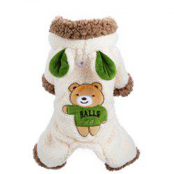 Pets Fall and Winter Bears Are Greatly Transformed Into Teddy Dog Clothes -