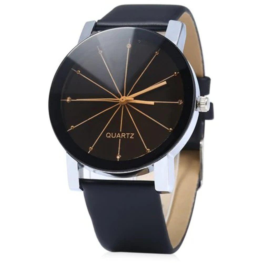 Chic GENEVA Men Fashion Simple Ray Belt Quartz Wrist Watch