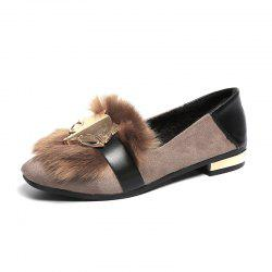 Flatbottomed Lazy People Wear Flannel Cotton Shoes -