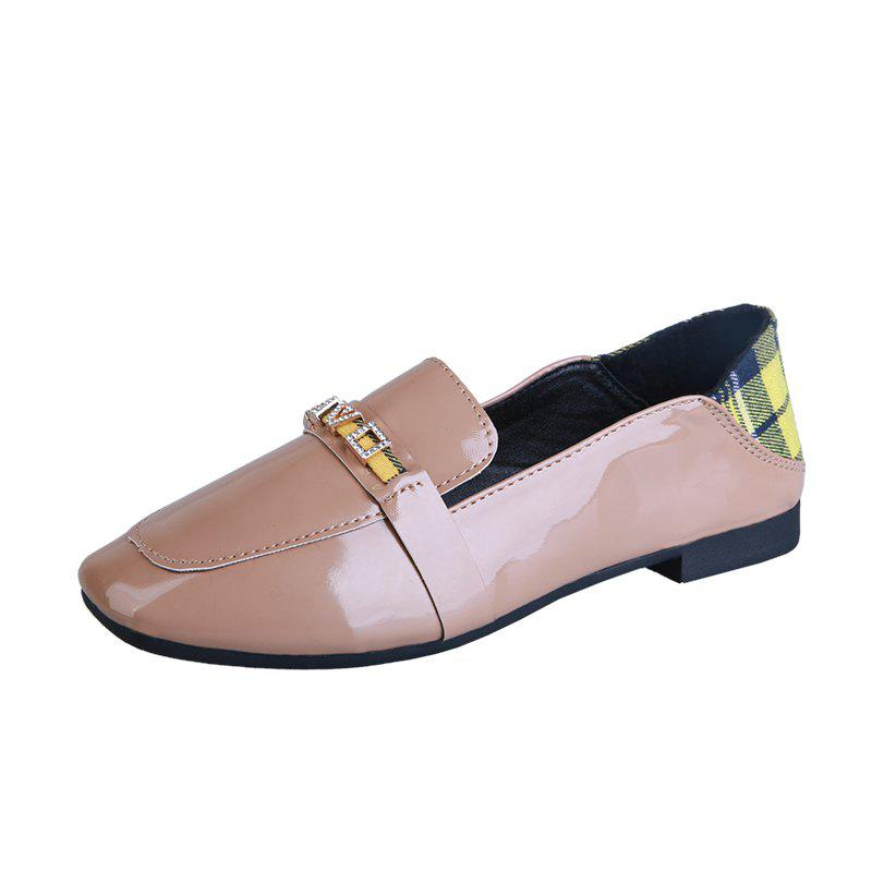 Trendy Flatbottomed Small Leather Shoes In Autumn