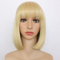 Qi Liuhai Short Bobo Hair Synthetic Wig -