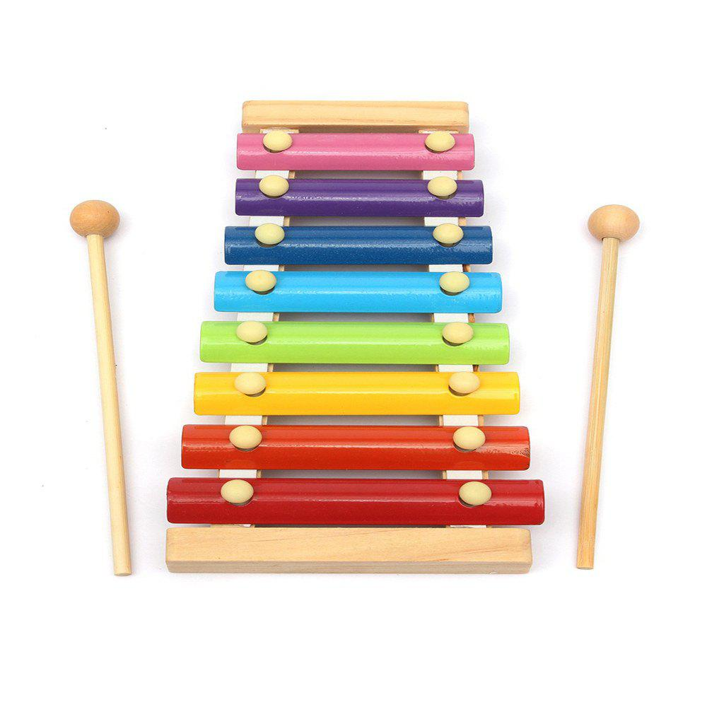 Trendy Rainbow Eight-Note Hand Knocking on The Xylophone Toy Musical Instrument