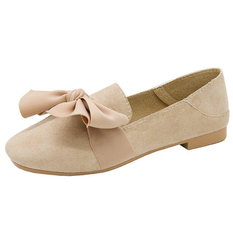 New New Butterflyknotted Fur Single Shoes