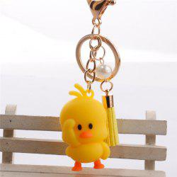 Doll Keychain Pendant Fringe Beads Bag Accessories -