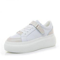 Leather White Shoes Autumn Version Sneakers Women Students Platform Casual Shoes -