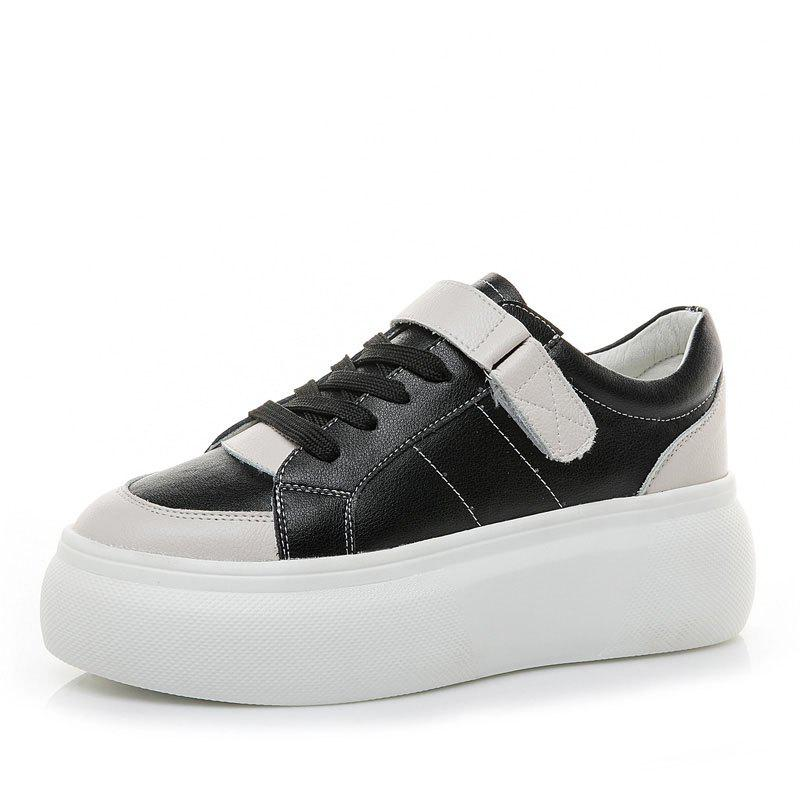 Fashion Leather White Shoes Autumn Version Sneakers Women Students Platform Casual Shoes