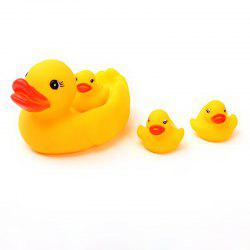 Simulated Duck Silicone Dolls with Hand-pinched Voice for Bathing and Baby Toys -
