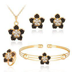 Fashionable Banquet Is Exquisite High-Grade Set of Jewelry with Diamond Flowers -
