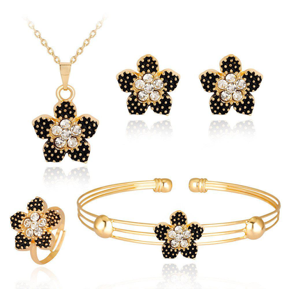Cheap Fashionable Banquet Is Exquisite High-Grade Set of Jewelry with Diamond Flowers