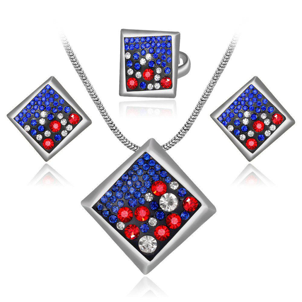 Cheap High-Grade Atmospheric Personality Geometry Set with Diamond Jewelry Set