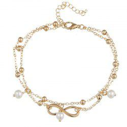 Beautiful Temperament Lady Pearl Eight-Character Foot Chain -