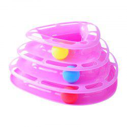 Three-Layer Turntable Triangle Track Ball Cat Toy -